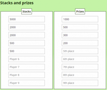 ICM Deal Calculator Stacks and Prizes